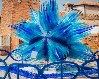 Sculpture Italy, Photographic Print, Glass Sculpture, Murano Italy, Italy Photography, Venice Sculpture, Glass Making Italy, Murano Italy