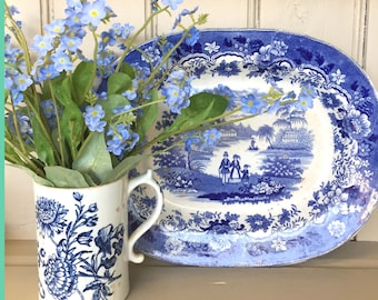 A Blue and White Antique Serving Platter
