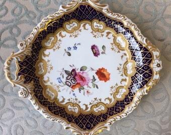 Hand-painted John William Ridgeway Dish from 1825