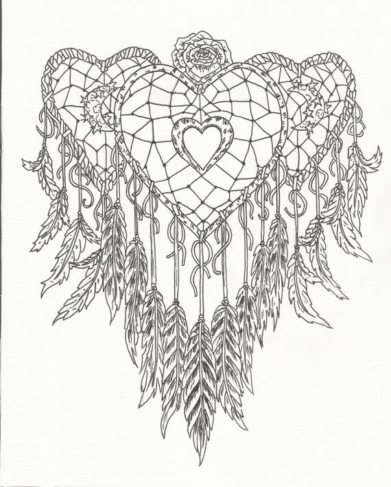 dream catcher coloring pages catcher coloring page 4282