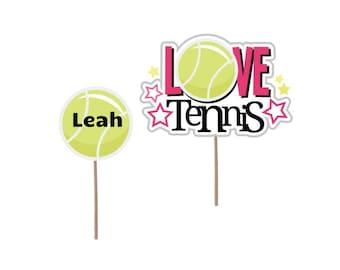 Tennis Cupcake Topper, Birthday cupcake topper, Tennis cupcake picks, birthday party, Tennis party, Tennis decor, Tennis party decoration