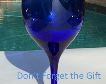 Miriam's Cup, Blue Wine Glass, Passover Gift, Pesach, Jewish Holiday, Etched Glass, Customized Wine Glass, Jewish Ritual, Bat Mitzvah Gift