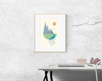 The Mountain Print