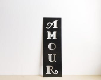 Amour Metal Sign - Amour Sign - Metal Sign - Metal Wall Art - Metal Home Decor - French Home Decor