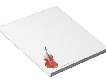 """Watercolor Cello 5.5"""" x 6"""" Notepad (40 pages)"""