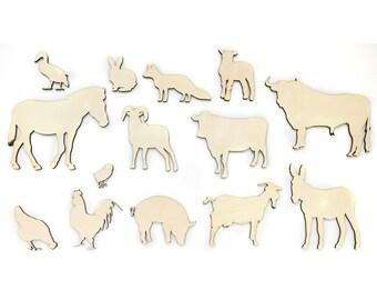 Animals - Animals lasercut - raw - Poplars plywoord - Wall decoration