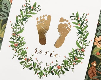 Baby Foot or Hand Print - A4 Print