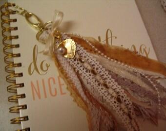 Heart Tassel Journal Tassel Purse Tassel Life Planner Tassel Embellishment Accent Collection #002