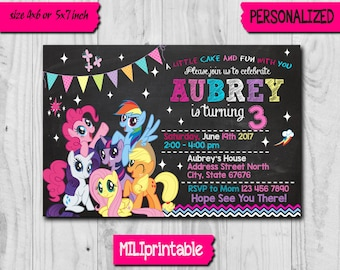 My Little Pony Invitation / My Little Pony / My Little Pony Birthday Invitation / My Little Pony Party / My Little Pony Invite / Little Pony