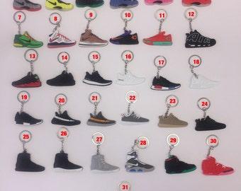 Air Jordan Sneaker Keychains - Lot of 3, 5, 10, 15 or 20