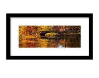 Yellow Bridge Central Park  {Digital Print}