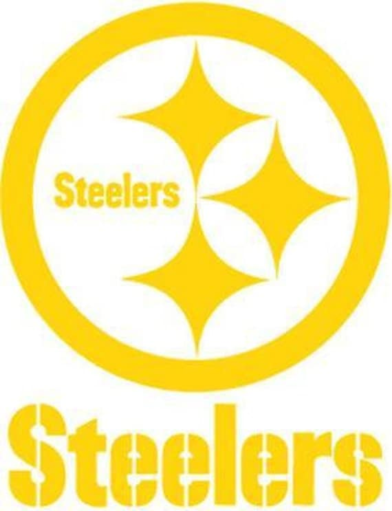 Vinyl Decal Sticker - Pittsburgh Steelers Decal for Windows, Cars, Laptops, Macbook, Yeti, Coolers, Mugs etc