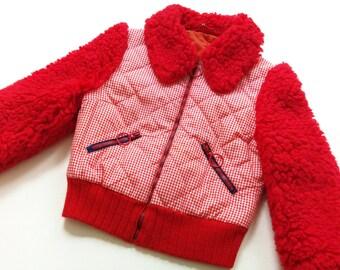 Hipster size 10 Y jacket fur ViNtAgE jacket TeddyFell 70's retro