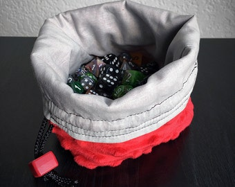 The Dragon - Soft Fuzzy Red - Large Dice Bag