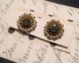 Pretty Rhinestone and Faux Pearl Buttons