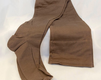 1920s Cafe Au Lait Seamed Stockings - AS IS