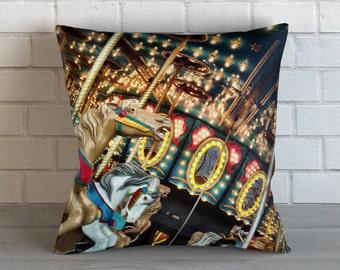 Carnival Carousel Pillow