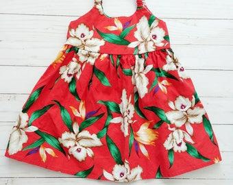 90s Hawaiin Flower Baby Dress
