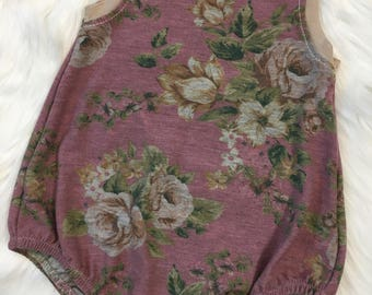 Floral French Terry Bubble Romper Jumper - Size 18M - 24M -