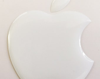 1 x 3D Glossy, domed Apple logo decal/sticker Apple Accessory.