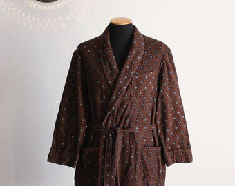 50s Guidotti men's vintage cotton bath robe