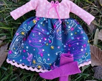 Blythe Dress stars, dress for blythe star