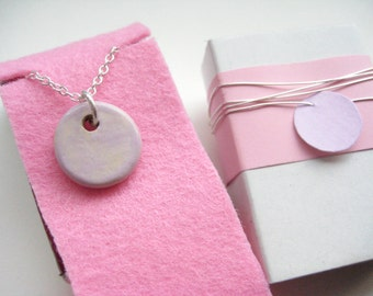 Necklace ceramic Silver 925 pink 7