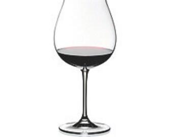 Custom Glass Etching - Burgundy Wine Glass