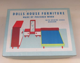 Reserved for Suifranall - 4 Boxes of Tofa of Czechoslovakia Wooden Dolls House Furniture