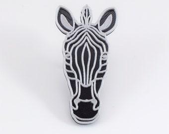 3D printed - Zebra black/silver
