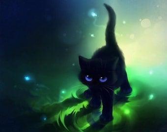 Black Cat Cross Stitch Pattern-Printable Funny Black Cat-Digital Black Cat-Digital Embroidery-PDF File
