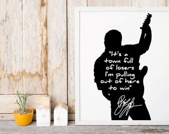 """Bruce Springsteen """"It's A Town Full Of Losers"""" Art Print"""