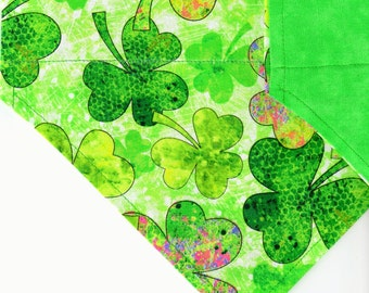 Green Shades of Clover | St Patrick's Day Dog Bandana | Puppy Bandana | Pet Bandana | Over the Collar Bandana