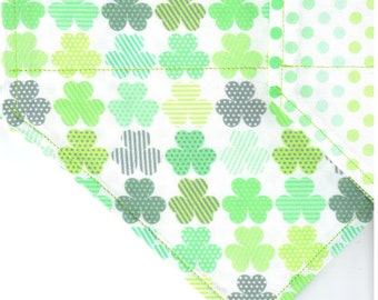 Shamrock Shuffle | St Patrick's Day Dog Bandana | Puppy Bandana | Pet Bandana | Over the Collar Bandana
