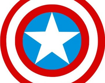 Captain America SVG,Marvel, Logo files by layers - Make Your Own Print Cut Crafts, Shirts, Wall Art, Vinyl Decals,ECT