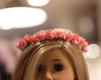 "18"" Doll Pink Flower Crown"
