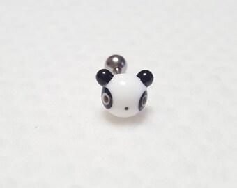 Panda Glass Piercing by urinamu
