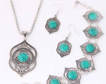 3pc Turquoise Jewelry Set