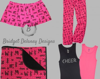 Cheer Collection!  Flannel Cheer print blanket.