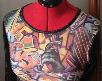 Graffiti Print shirt