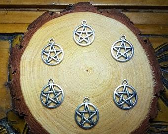 Silver Pentagram Charms