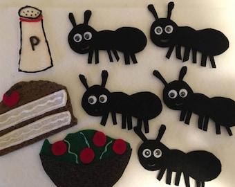 Five Hungry Ants - Children's Felt Story