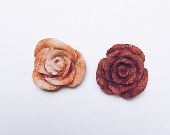 Carved Coral Roses
