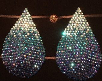 Waterfall Rhinestone Burlesque Pasties