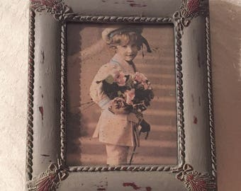 Small Vintage Picture Frame Painted And Disstresed