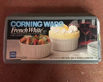 Vintage Corning Ware French White Set