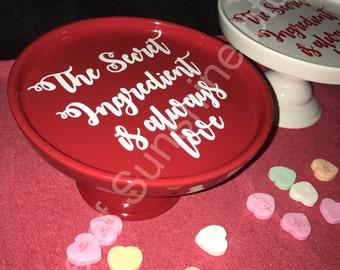 Decorative Red and White Dessert Tray , dessert trays , round dessert platters for display , display dessert trays , specialized dessert