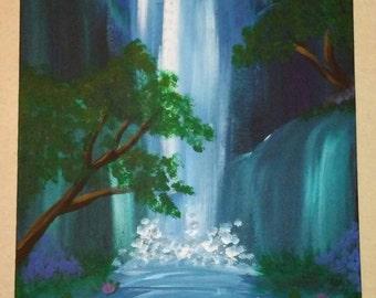 Hidden Falls W/Lotus *SALE*