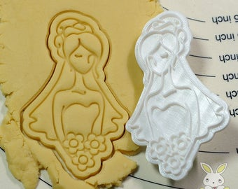 Beautiful Bride Cookie Cutter and Stamp