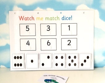 Number dice, EYFS, Early learning, Reception, pre-school, numeracy, learn numbers, nursery, teaching resource, visual learner